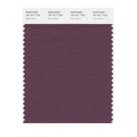 Pantone 18-1411 TCX Swatch Card Plum Wine