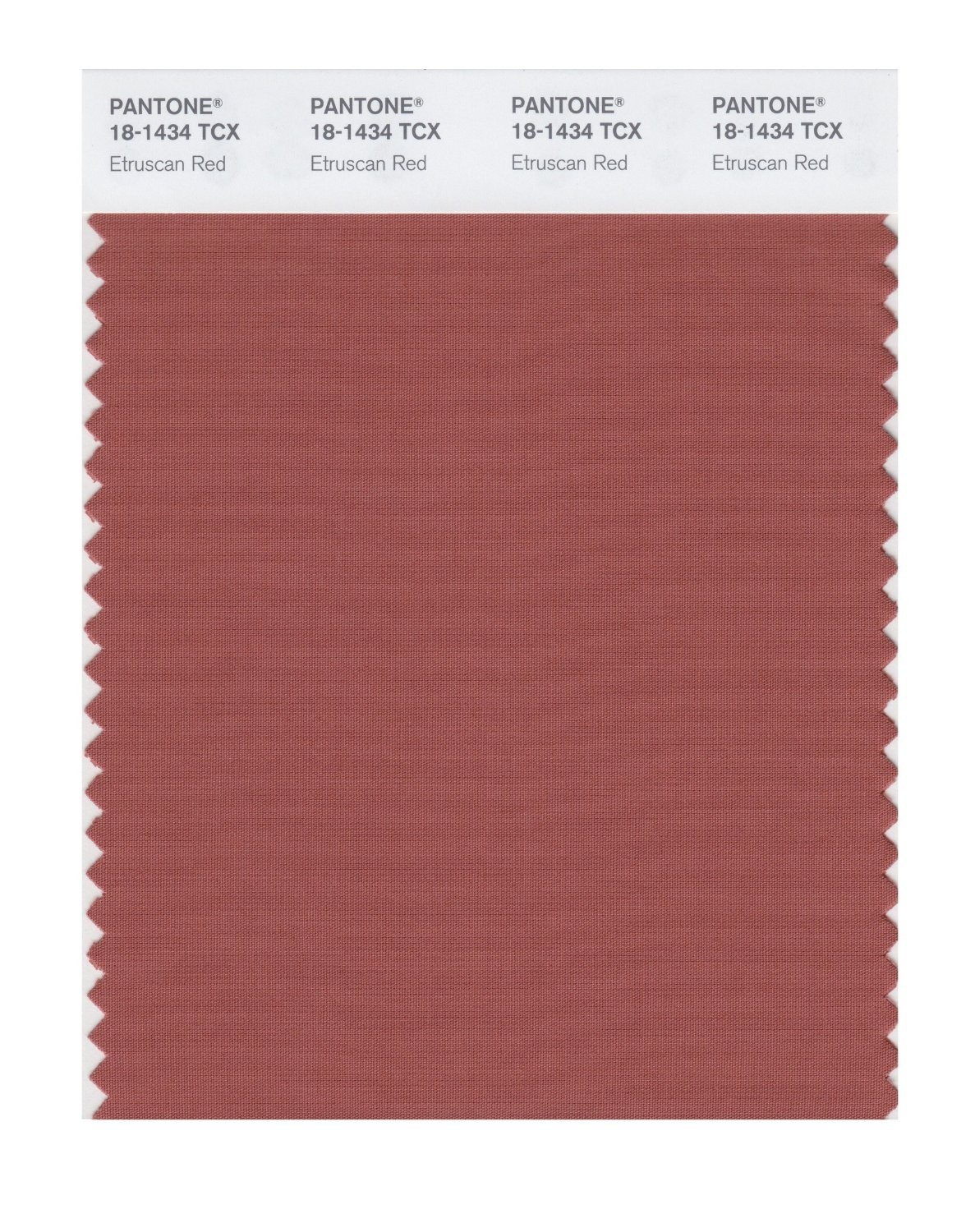 Pantone 18-1434 TCX Swatch Card Etruscan Red