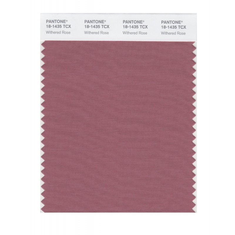 Pantone 18-1435 TCX Swatch Card Withered Rose