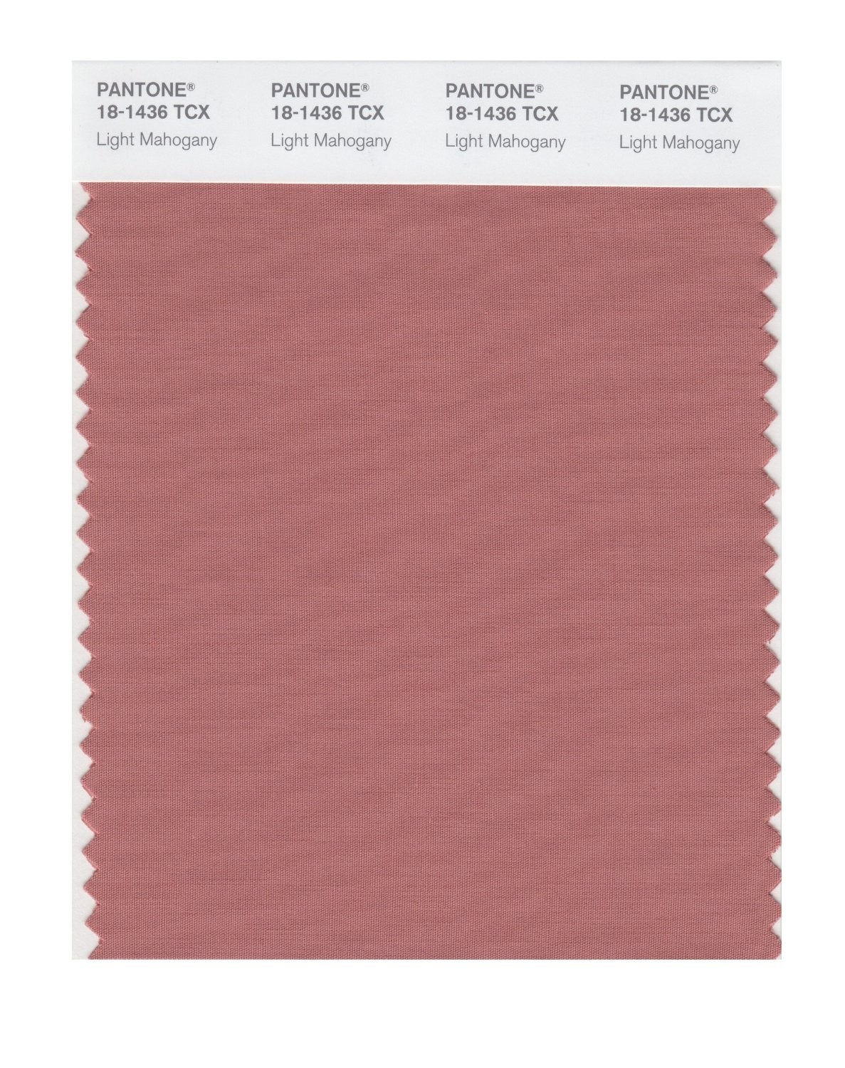Pantone 18-1436 TCX Swatch Card Light Mahogany