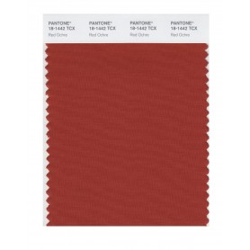 Pantone 18-1442 TCX Swatch Card Red Ochre