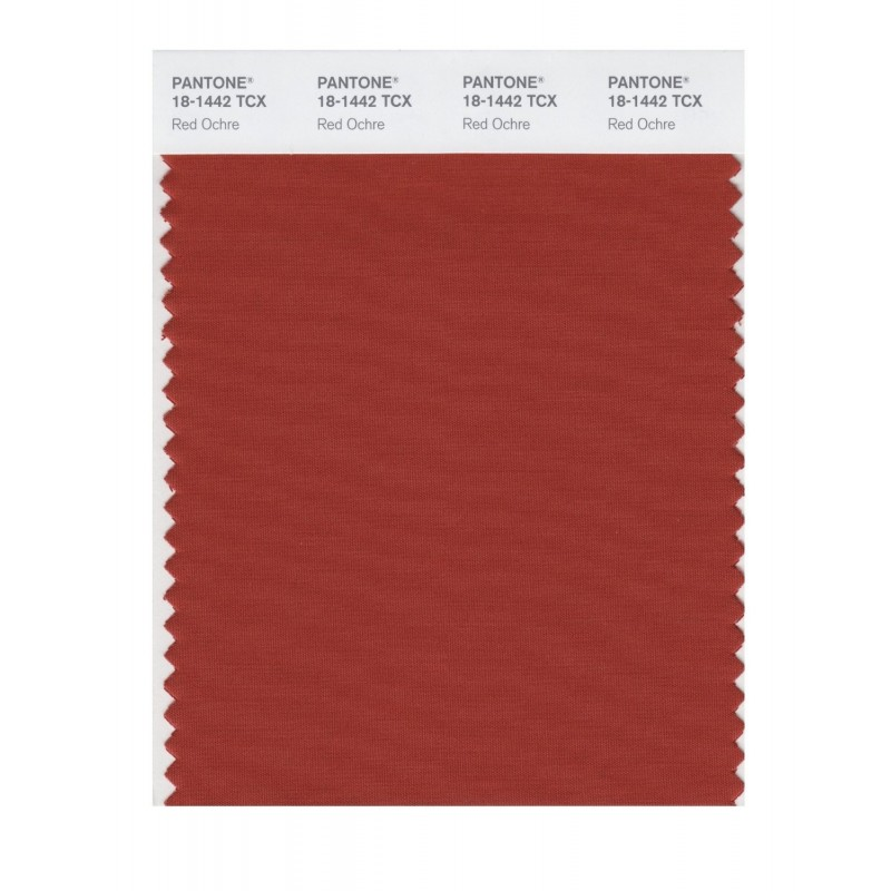 Pantone 18-1442 TCX Swatch Card Red Ochre Buy in india