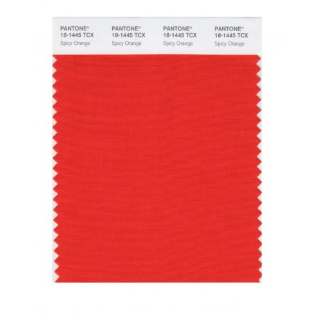 Pantone 18-1445 TCX Swatch Card Spicy Orange