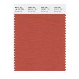 Pantone 18-1447 TCX Swatch Card Orange Rust