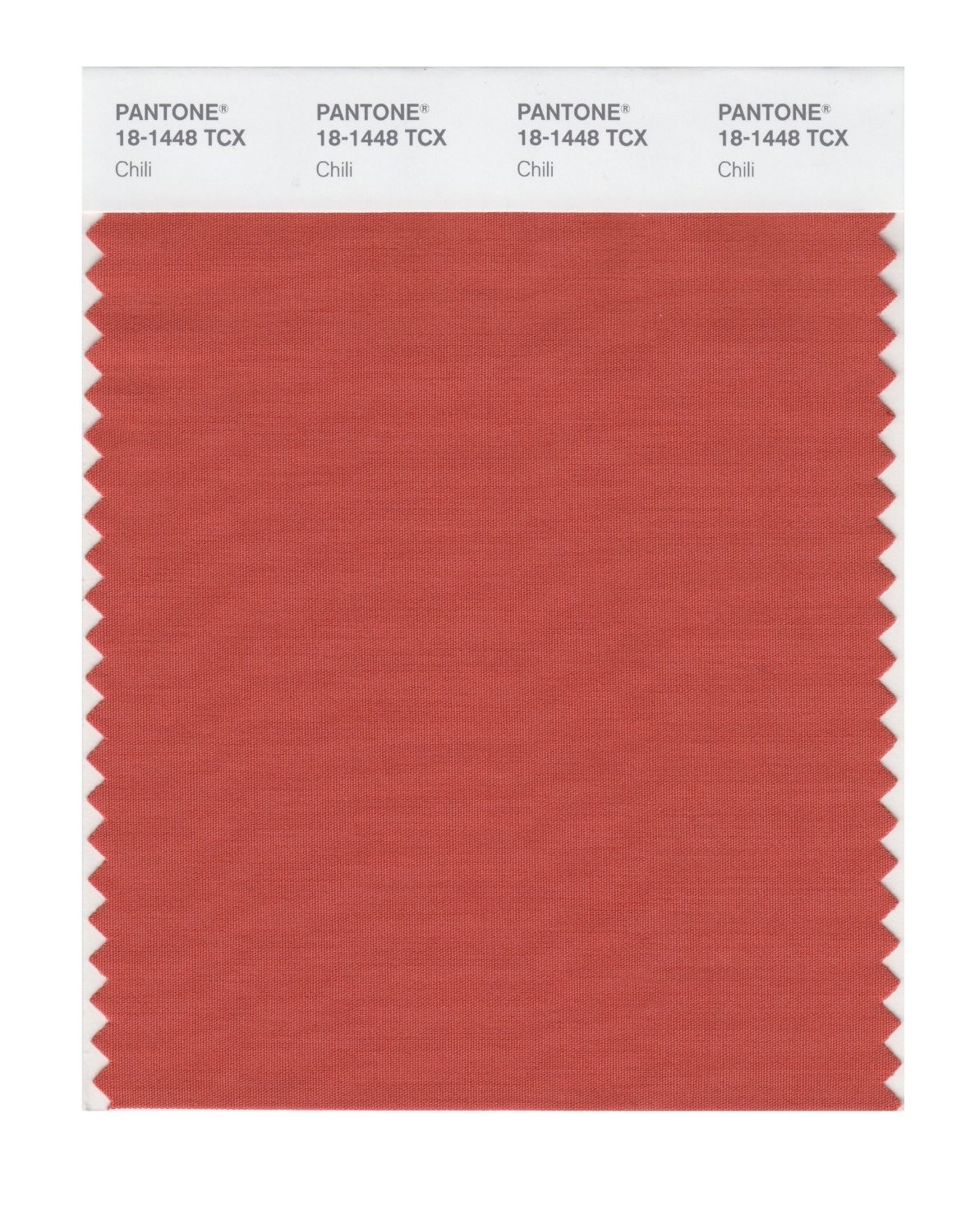 Pantone 18-1448 TCX Swatch Card Chili