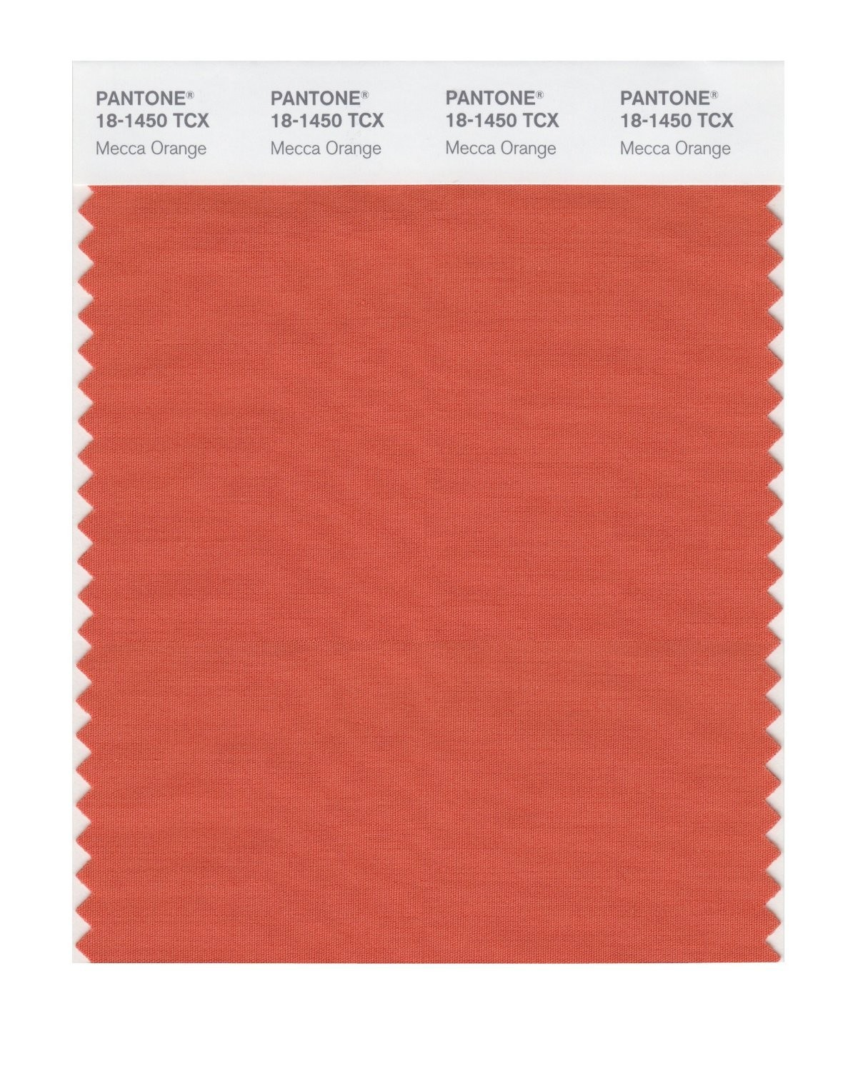 Pantone 18-1450 TCX Swatch Card Mecca Orange