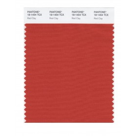 Pantone 18-1454 TCX Swatch Card Red Clay