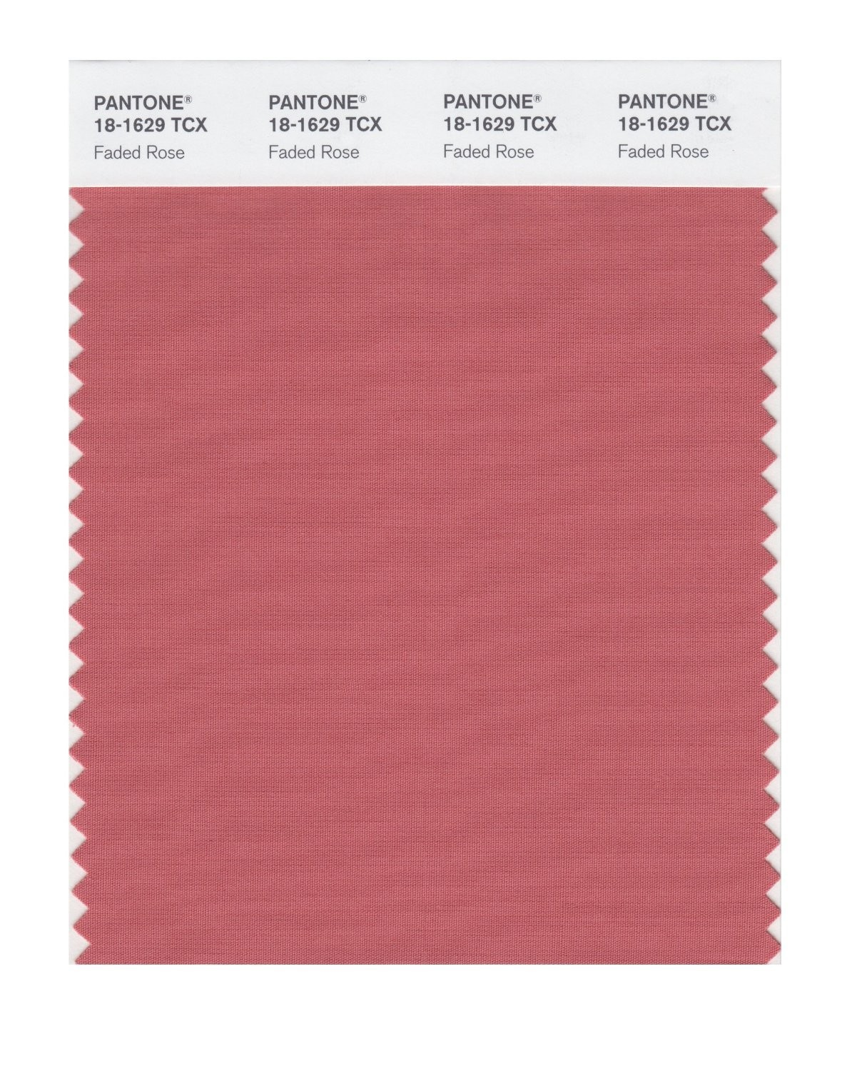 Pantone 18-1629 TCX Swatch Card Faded Rose