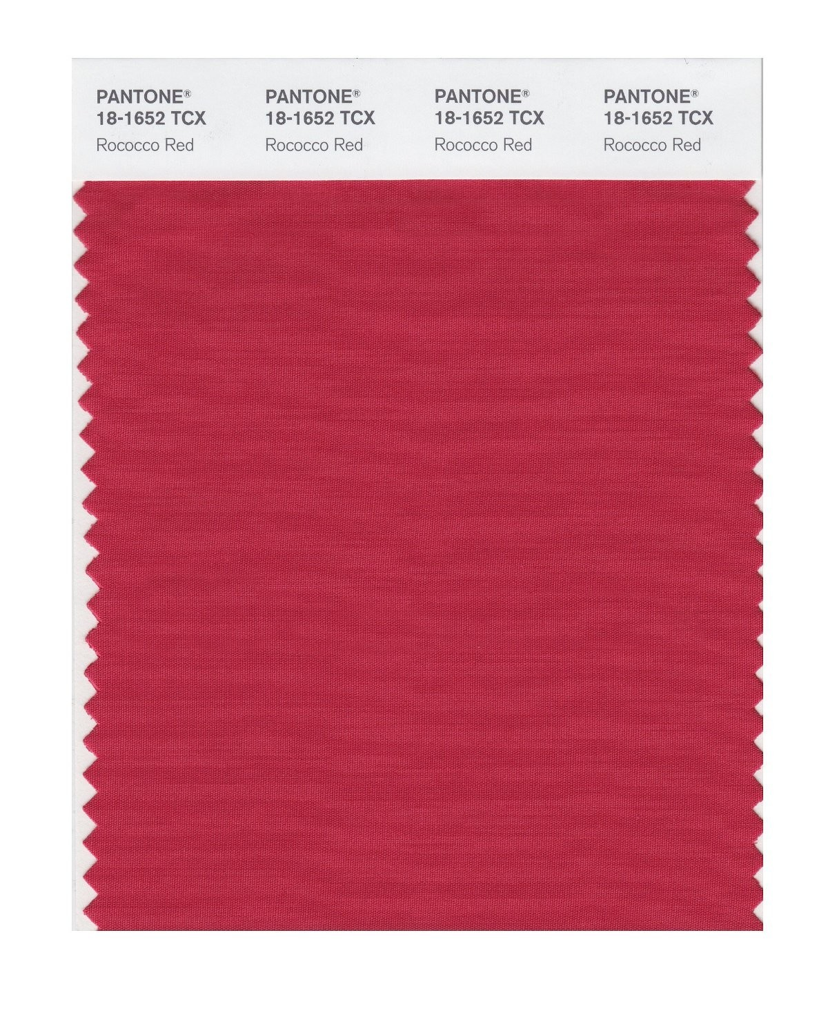 Pantone 18-1652 TCX Swatch Card Rococco Red