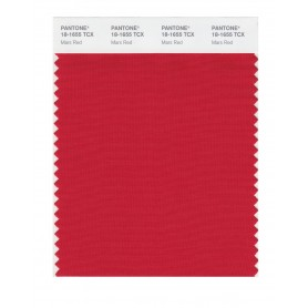 Pantone 18-1655 TCX Swatch Card Mars Red