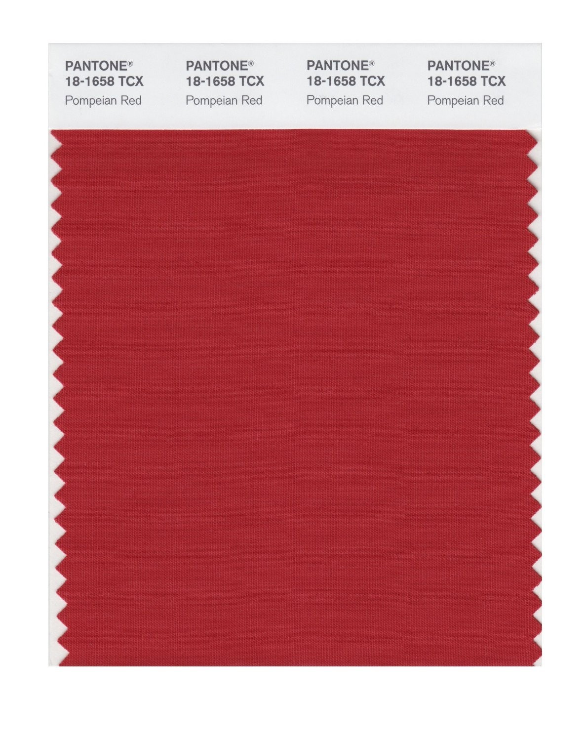 Pantone 18-1658 TCX Swatch Card Pompeian Red