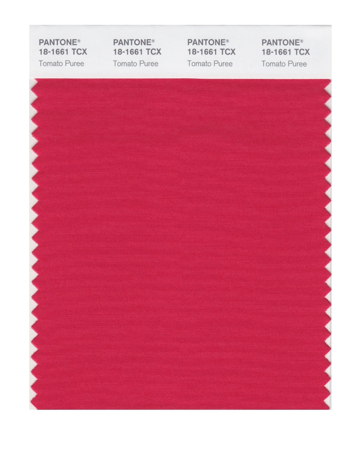 Pantone 18-1661 TCX Swatch Card Tomato Puree