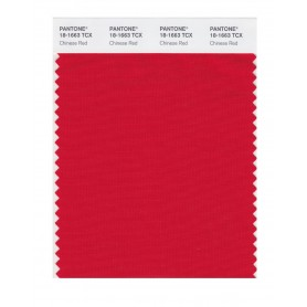 Pantone 18-1663 TCX Swatch Card Chinese Red