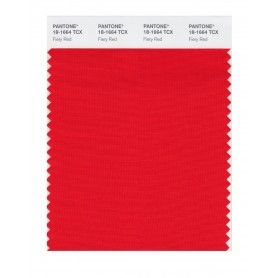 Pantone 18-1664 TCX Swatch Card Fiery Red