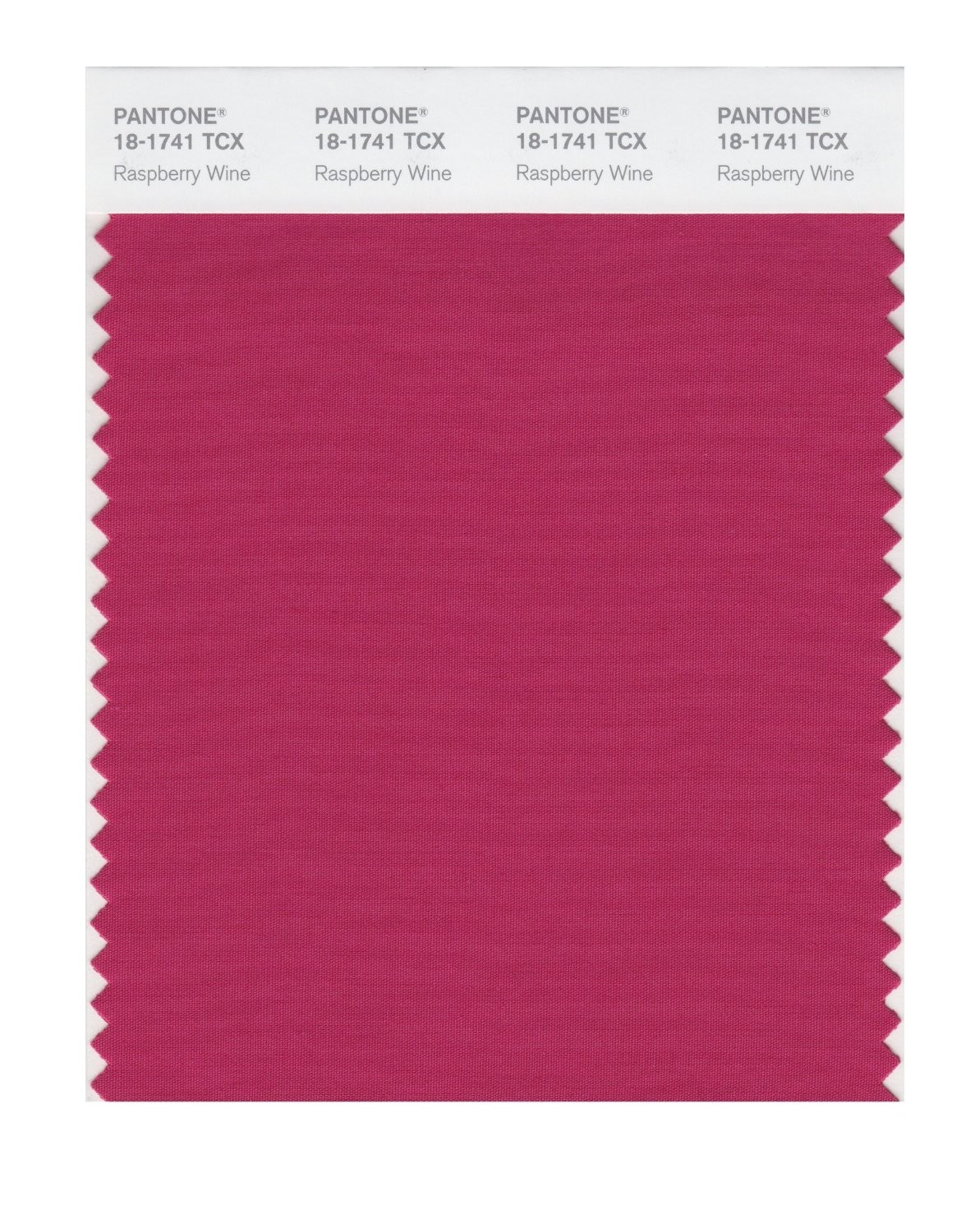 Pantone 18-1741 TCX Swatch Card Raspberry Wine