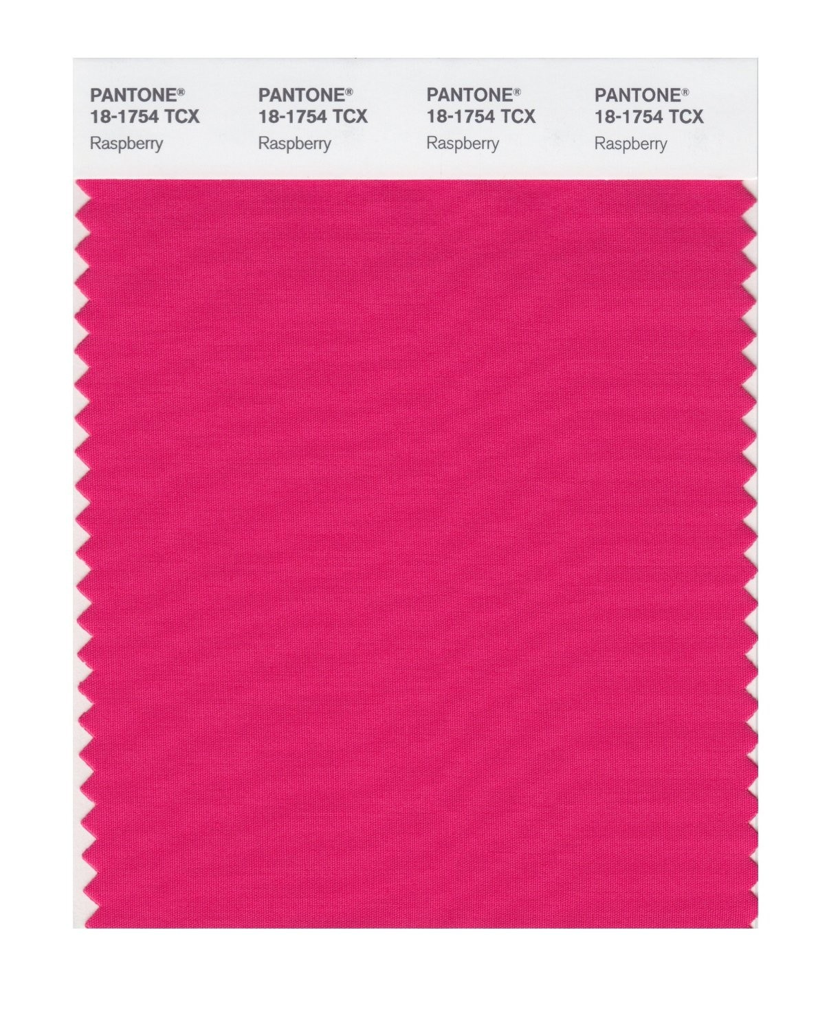Pantone 18-1754 TCX Swatch Card Raspberry
