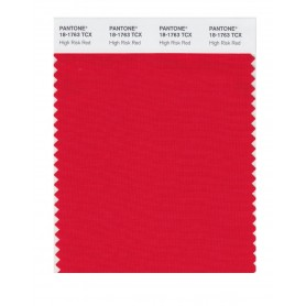 Pantone 18-1763 TCX Swatch Card High Risk Red