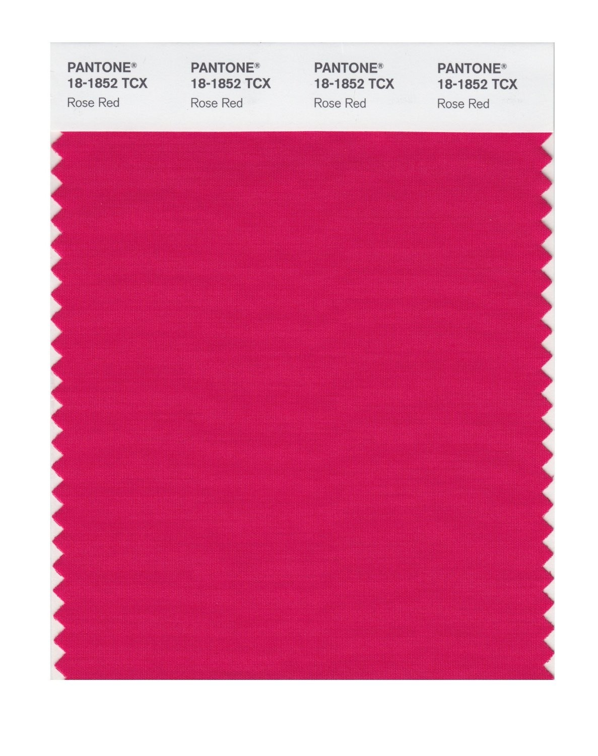 Pantone 18-1852 TCX Swatch Card Rose Red