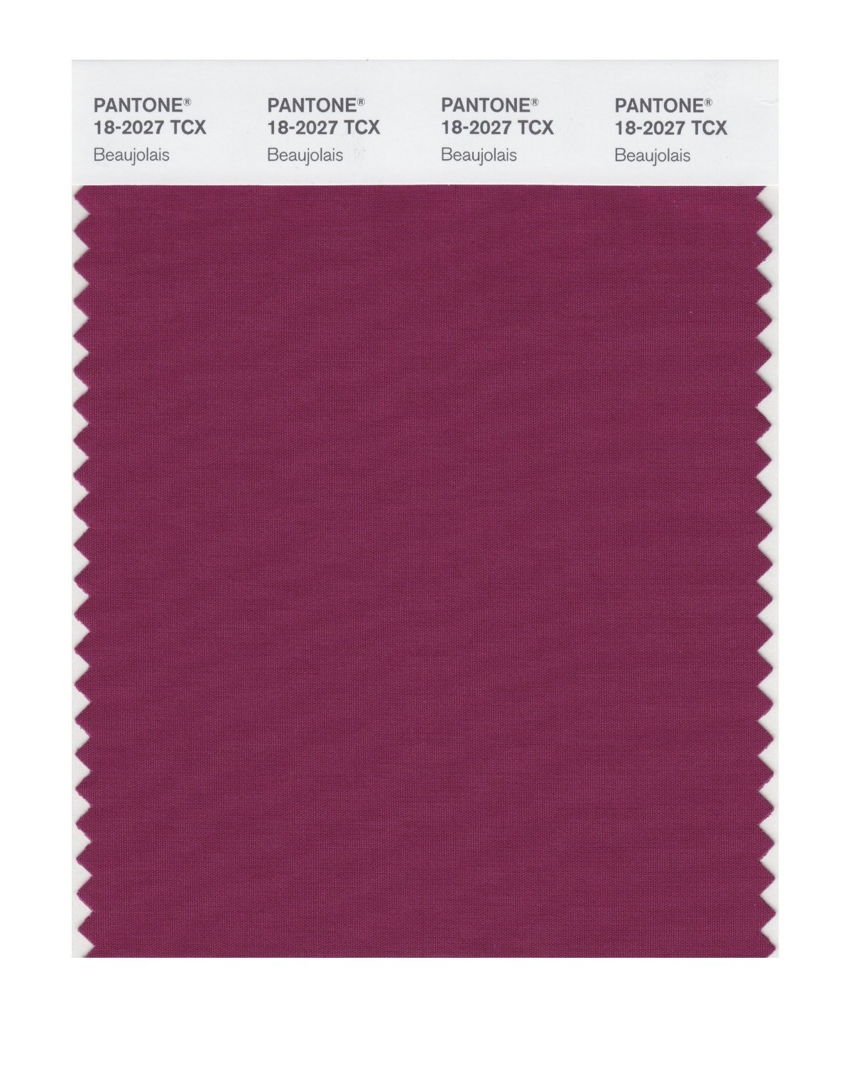 Pantone 18-2027 TCX Swatch Card Beaujolais