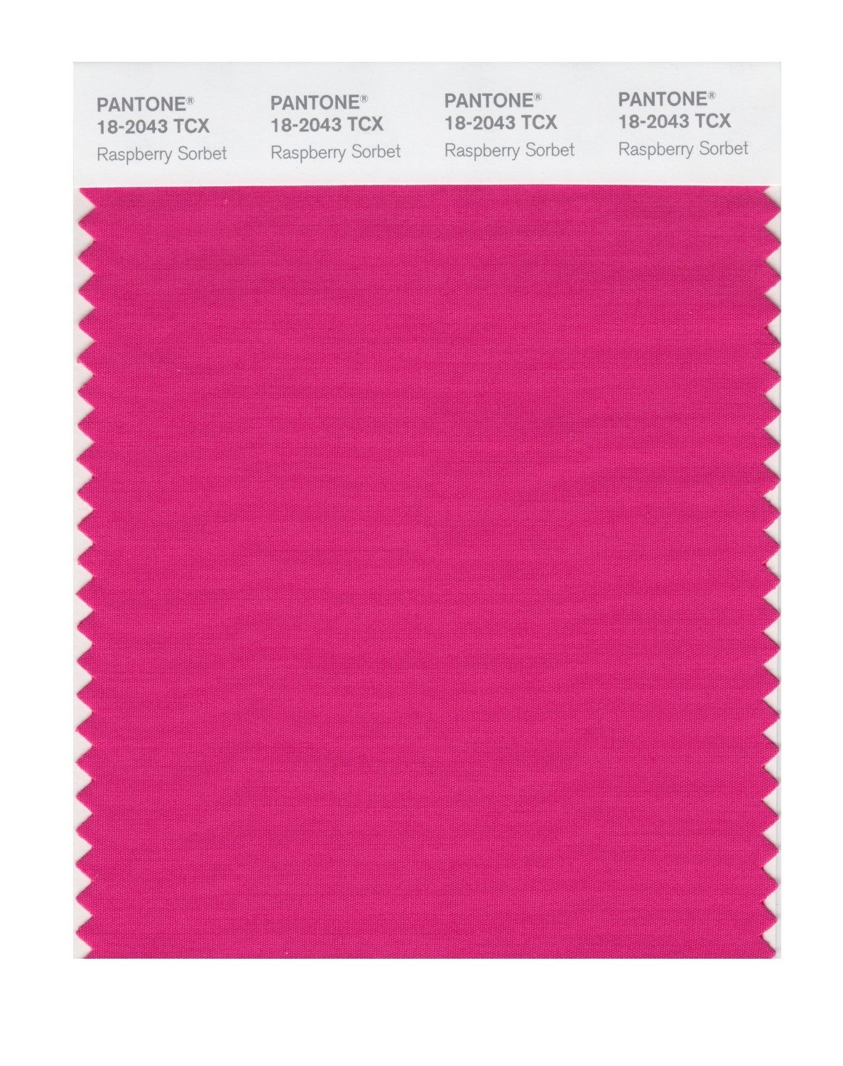 Pantone 18-2043 TCX Swatch Card Raspberry Sorbet