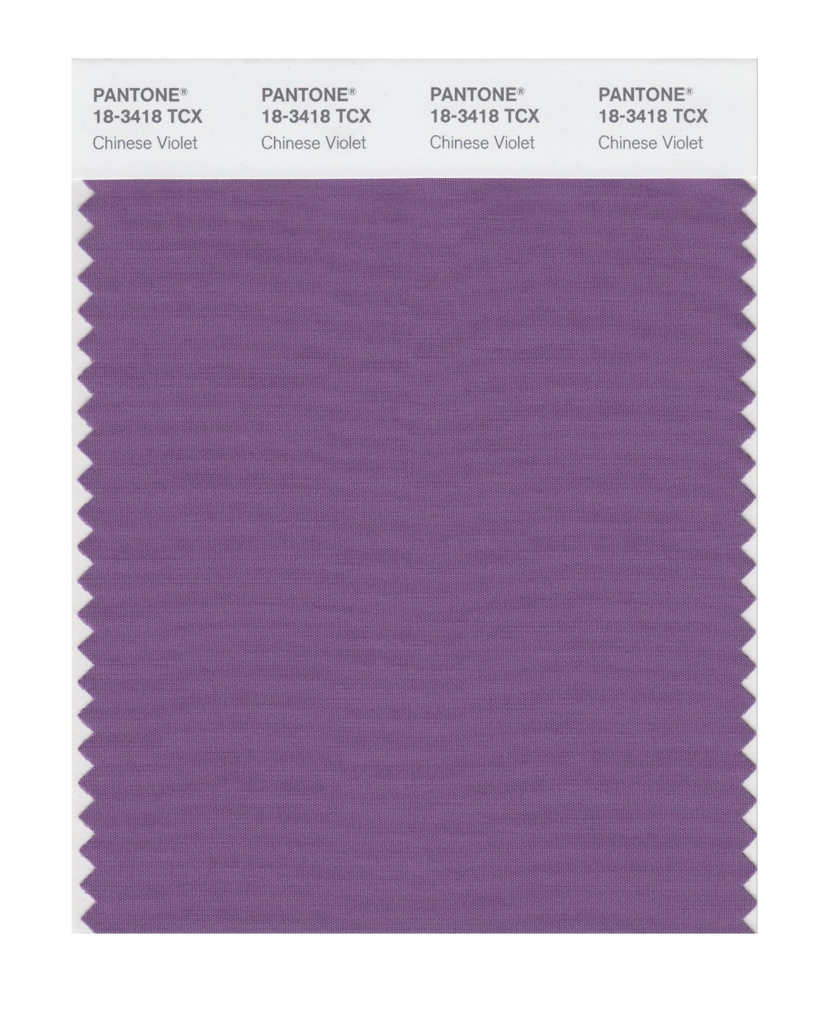 Pantone 18-3418 TCX Swatch Card Chinese Violet
