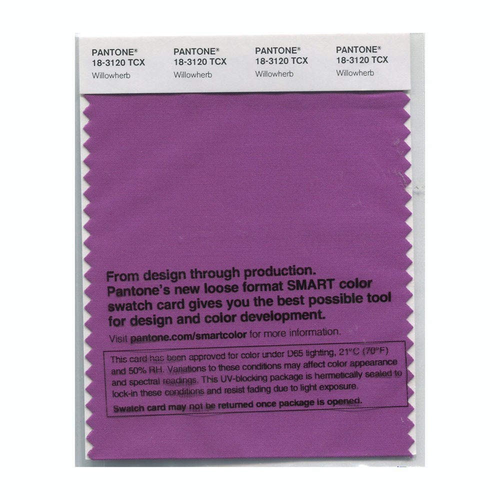 Pantone 18-3120 TCX Swatch Card Willowherb