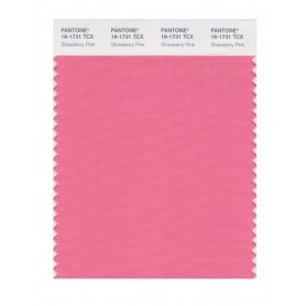 Pantone 16-1731 TCX Swatch Card Strawberry Pink