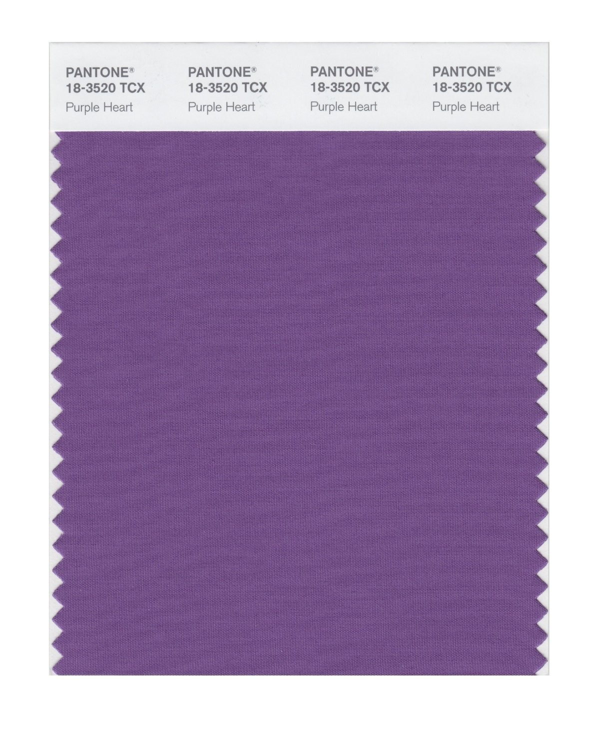 Pantone 18-3520 TCX Swatch Card Purple Heart