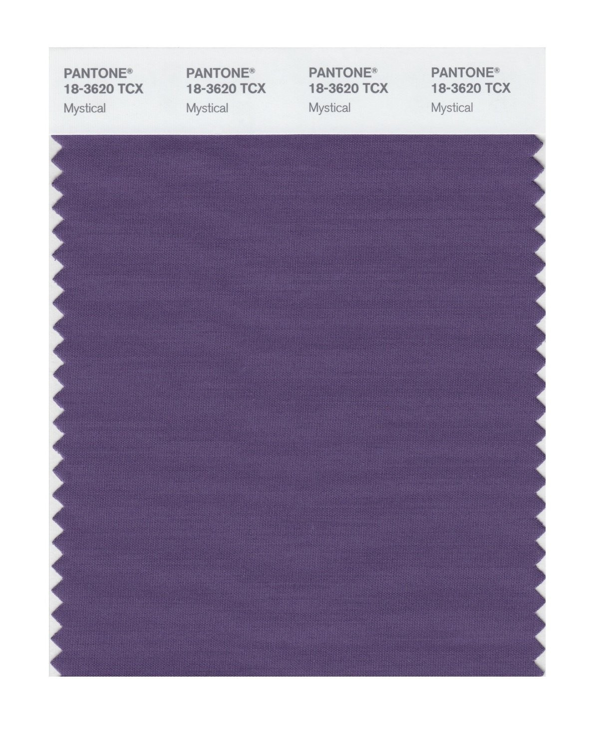 Pantone 18-3620 TCX Swatch Card Mystical