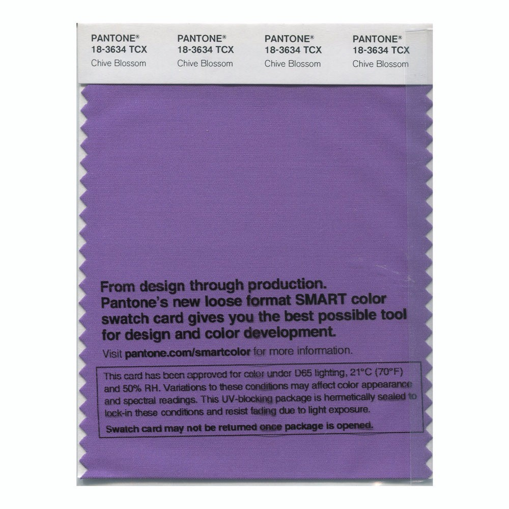 Pantone 18-3634 TCX Swatch Card Chive Blossom