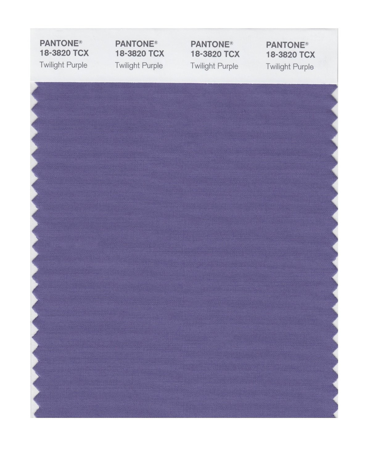 Pantone 18-3820 TCX Swatch Card Twilight Purple