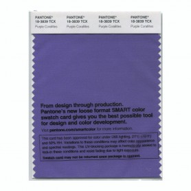 Pantone 18-3839 TCX Swatch Card Purple Corallite