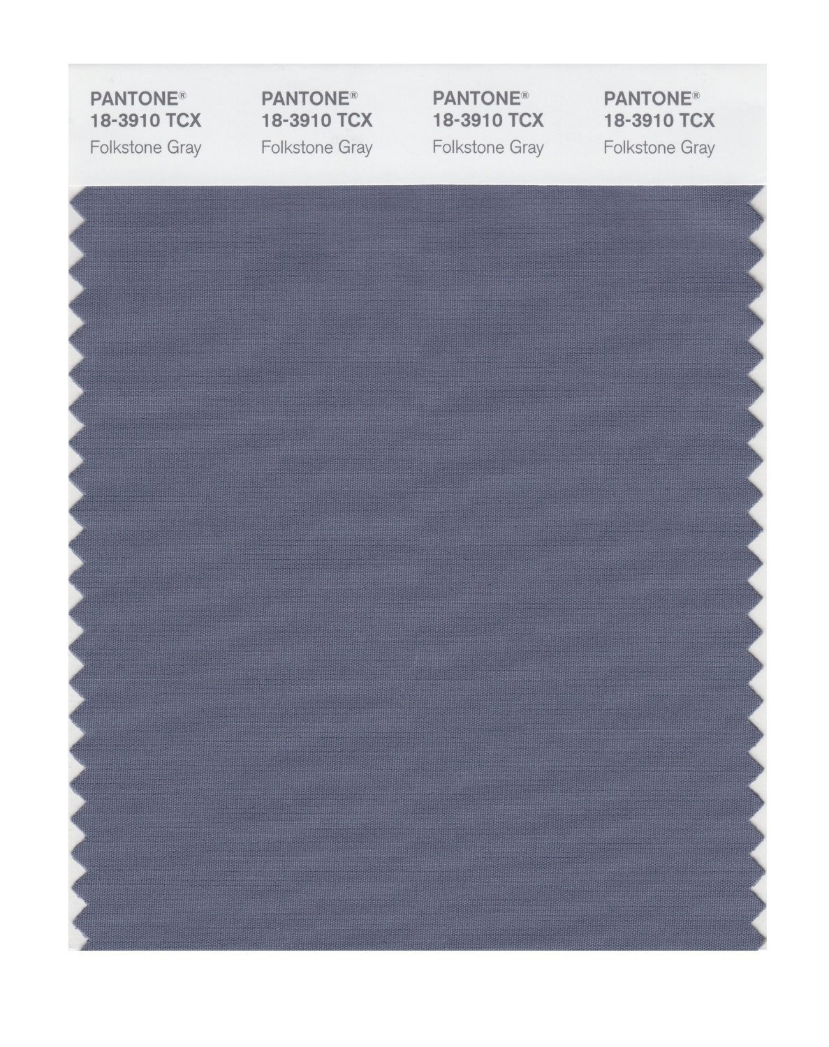 Pantone 18-3910 TCX Swatch Card Folkstone Gray