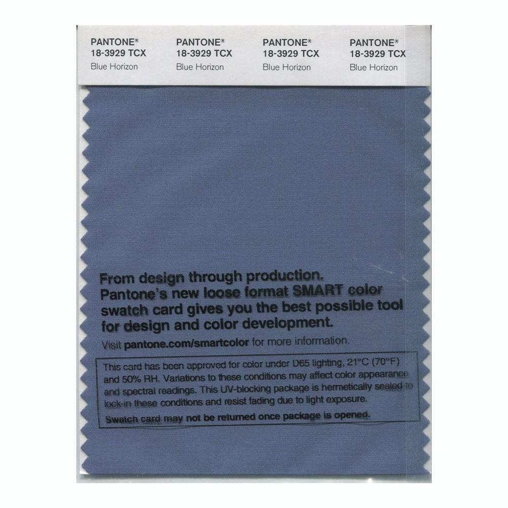 Pantone 18-3929 TCX Swatch Card Blue Horizon