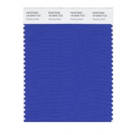 Pantone 18-3949 TCX Swatch Card Dazzling Blue