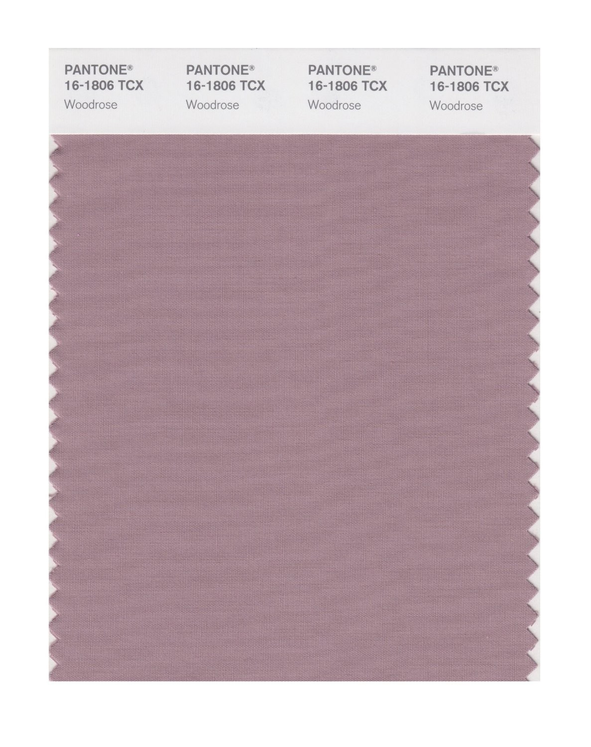 Pantone 16-1806 TCX Swatch Card Woodrose