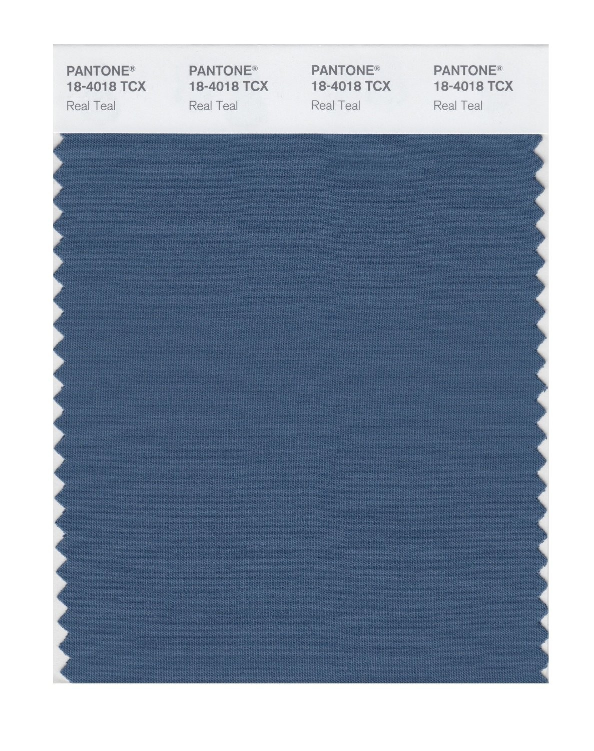 Pantone 18-4018 TCX Swatch Card Real Teal