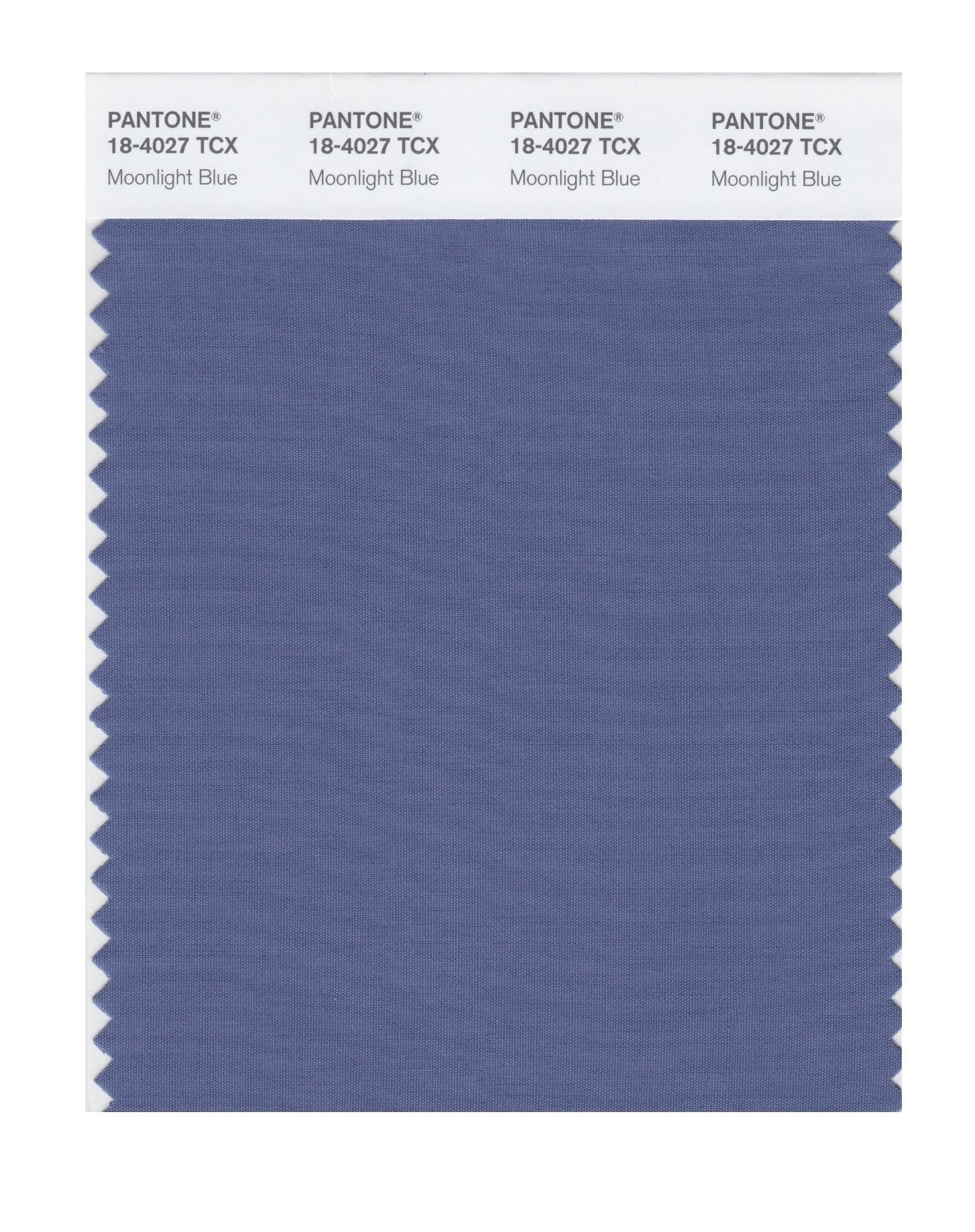 Pantone 18-4027 TCX Swatch Card Moonlight Blue
