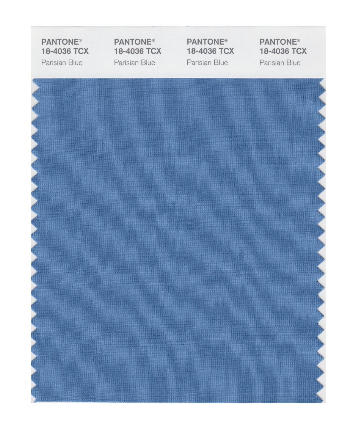 Pantone 18-4036 TCX Swatch Card Parisian Blue
