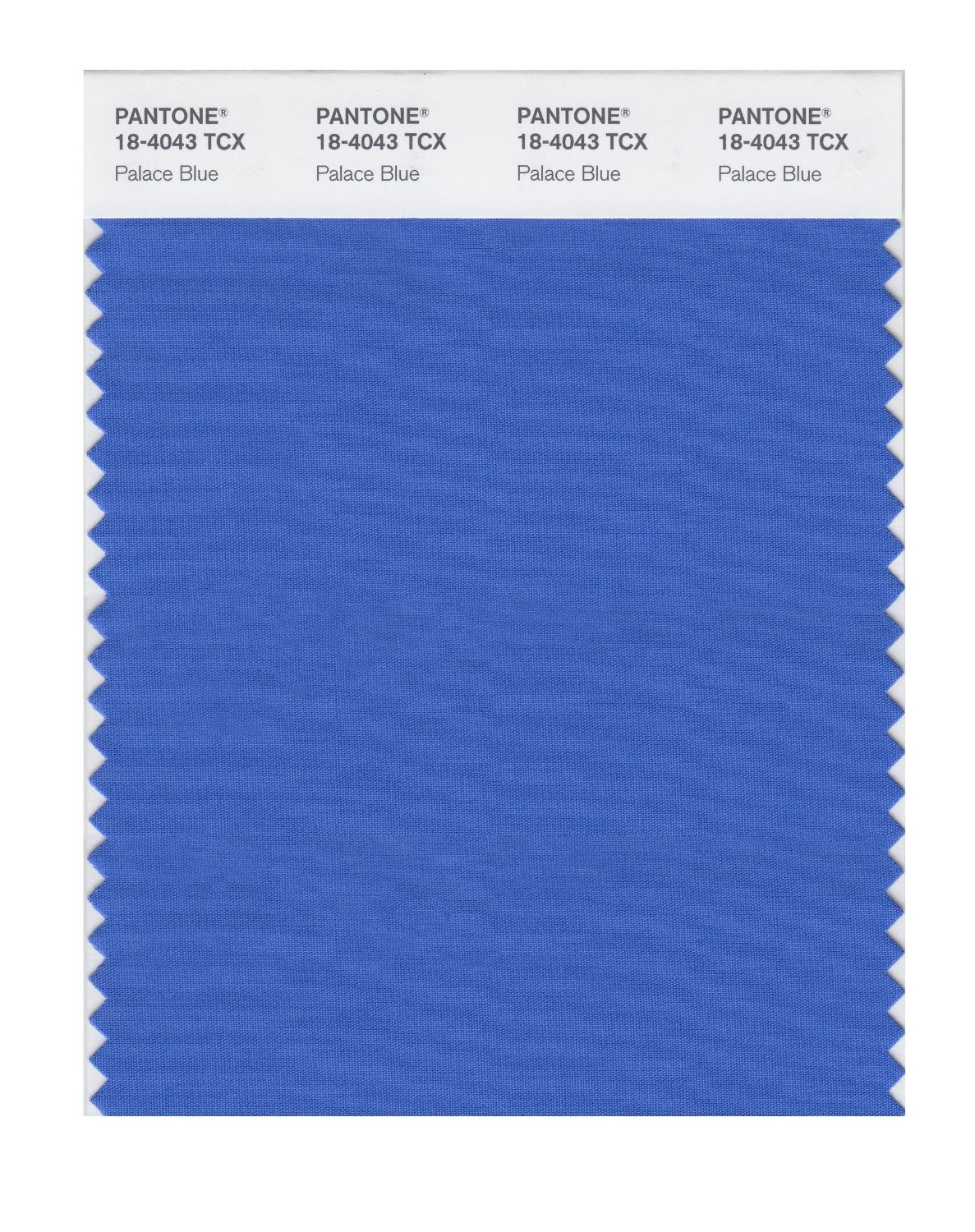 Pantone 18-4043 TCX Swatch Card Palace Blue