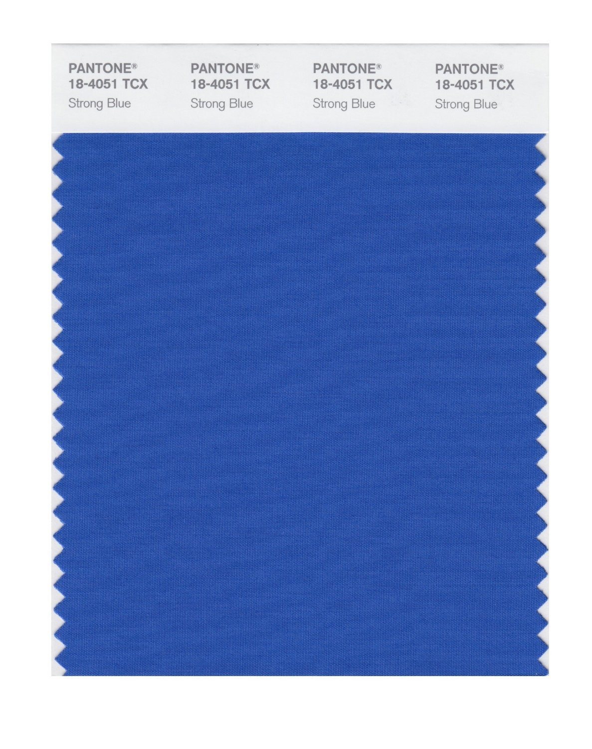Pantone 18-4051 TCX Swatch Card Strong Blue