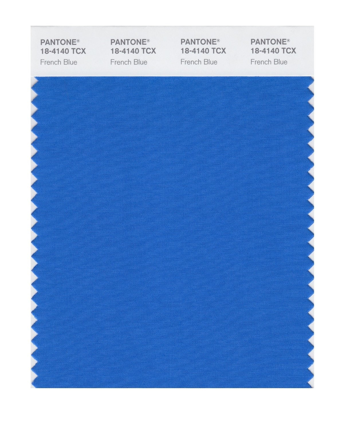 Pantone 18-4140 TCX Swatch Card French Blue