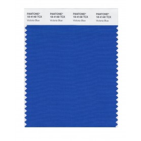 Pantone 18-4148 TCX Swatch Card Victoria Blue