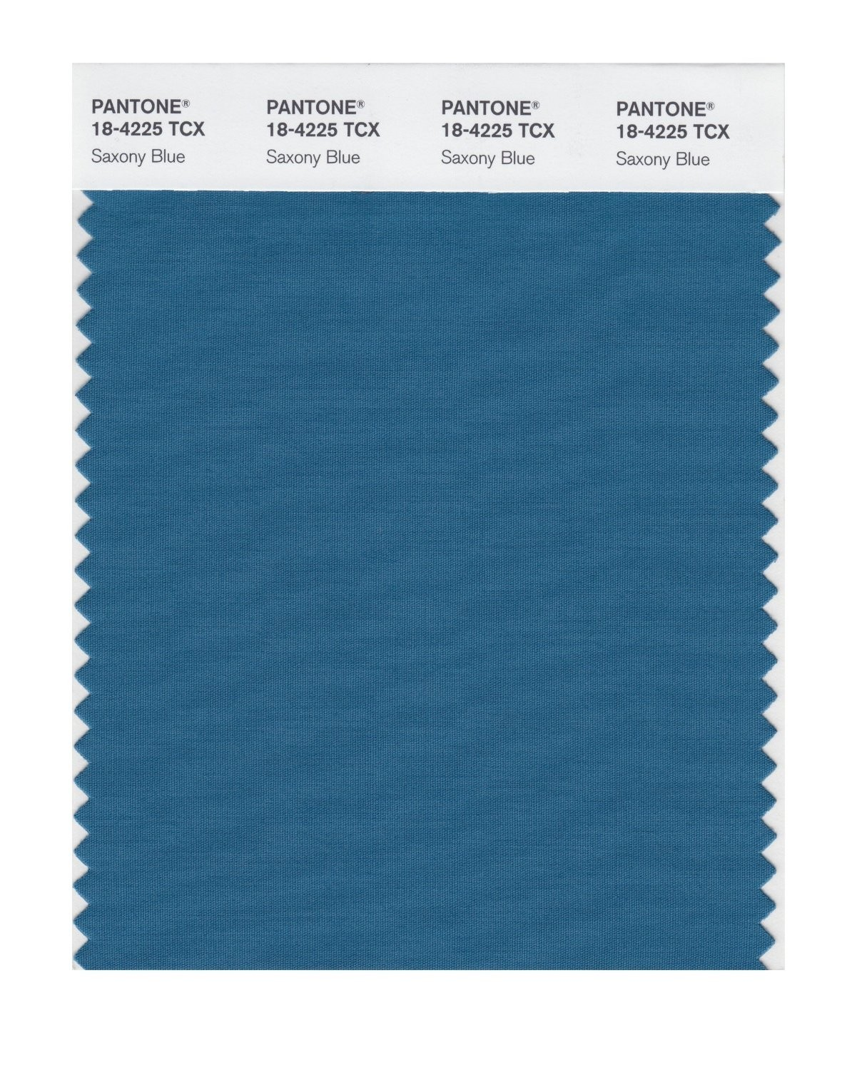 Pantone 18-4225 TCX Swatch Card Saxony Blue