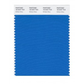 Pantone 18-4247 TCX Swatch Card Brilliant Blue