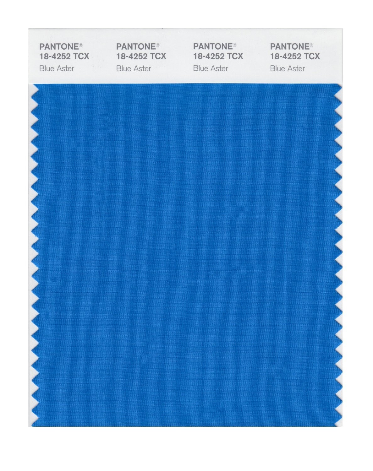 Pantone 18-4252 TCX Swatch Card Blue Aster
