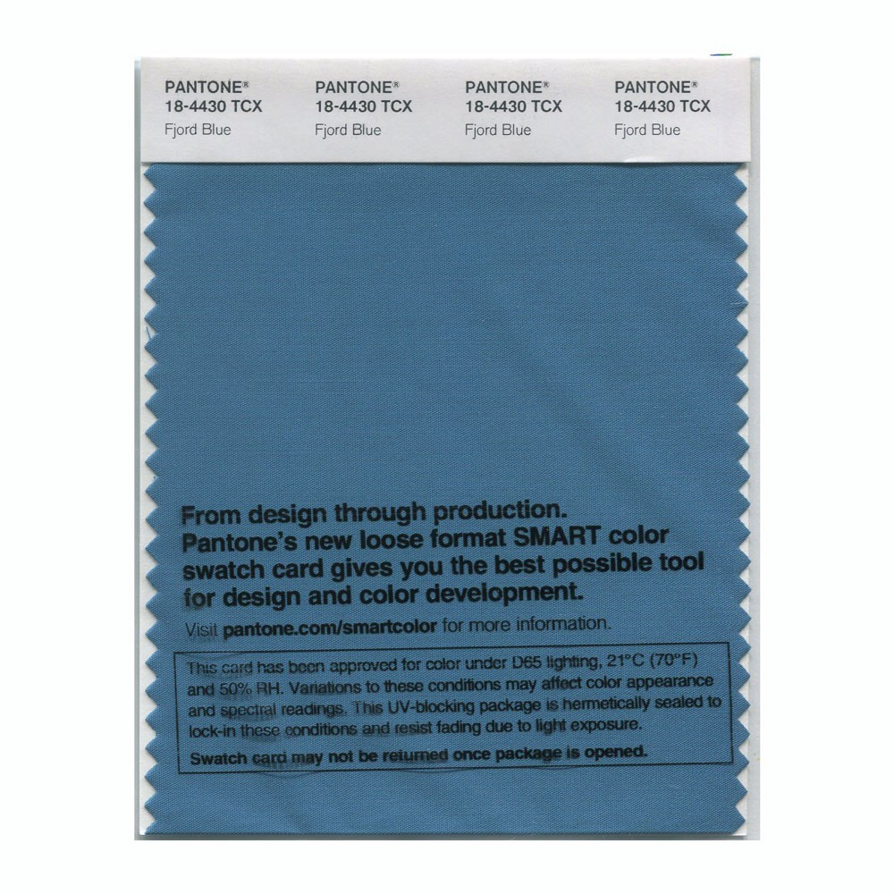 Pantone 18-4430 TCX Swatch Card Fjord Blue