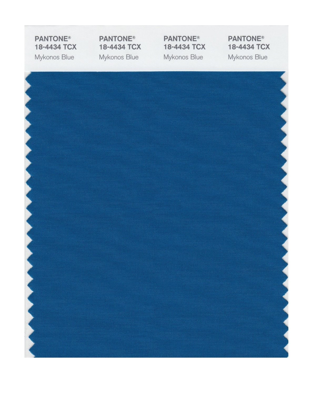 Pantone 18-4434 TCX Swatch Card Mykonos Blue