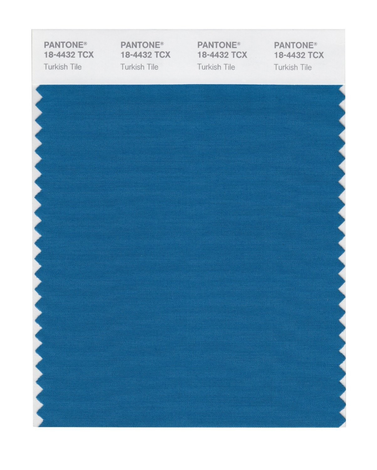 Pantone 18-4432 TCX Swatch Card Turkish Tile