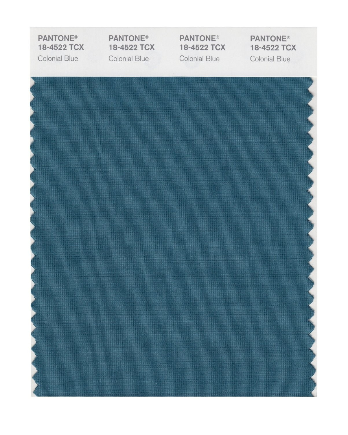 Pantone 18-4522 TCX Swatch Card Colonial Blue